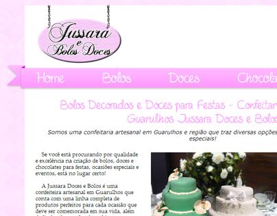 Website - Jussara Doces e Bolos