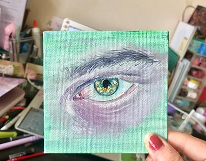His eye in detail