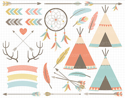 Clip Art - American Indian / Tribal Elements