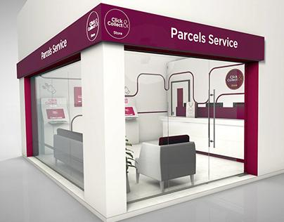3D online parcel pickup service