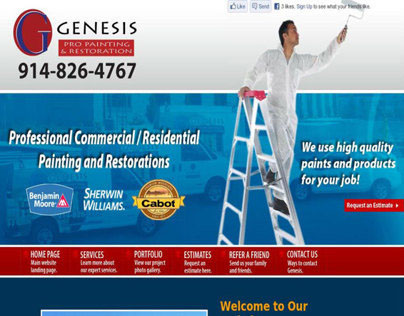 Genesis Pro Painting HTML/CSS website