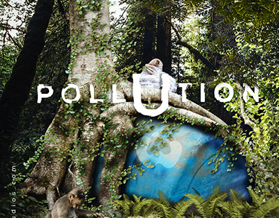 Land Pollution Concept Photo Manipulation