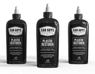 Black bold label design for Carguys