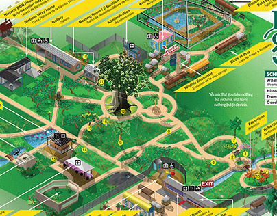 Botanical Gardens Visitor's Illustrated Map