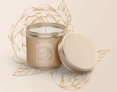Perfumed Candle Packaging Illustration