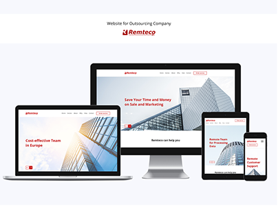 Website for outsourcing company