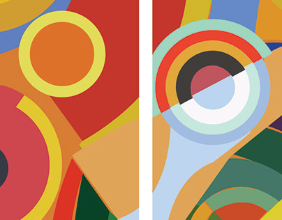 Personal Project   Abstract Illustrator art