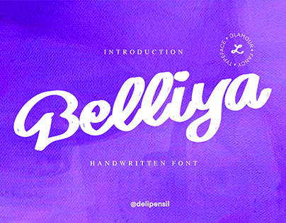 Belliya - Handwritten Modern Font