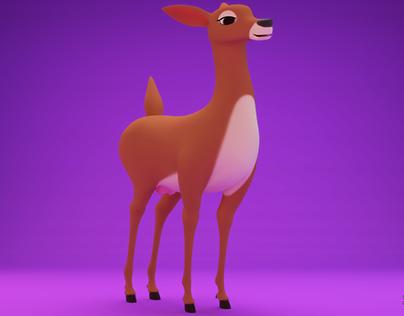 Female Deer 3D model