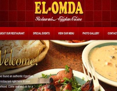 El Omda Egyptian Restaurant HTML Website
