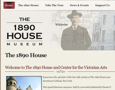 1890 House Museum, Joomla Project