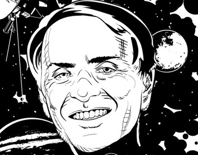 Carl Sagan Tribute Print