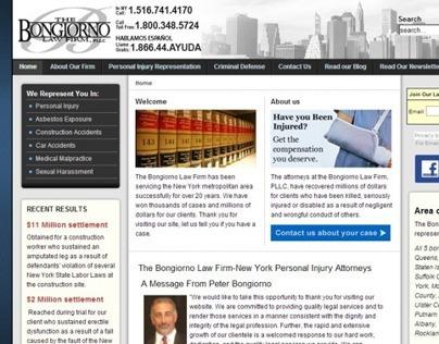 The Bongiorno Law Firm, Joomla! Website project