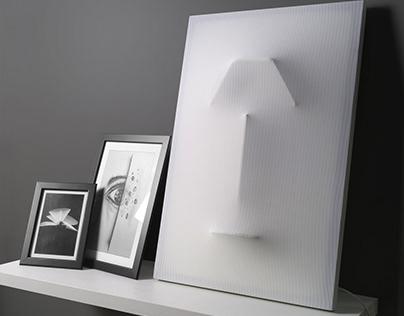 NEBU - fabric sculptural table / wall lamp