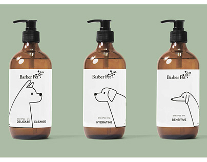 Label design for the pet grooming company