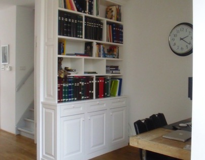 Work and Living together - Custom made Bookcase