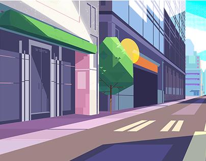 Visual Development - Georgia Commute Animation