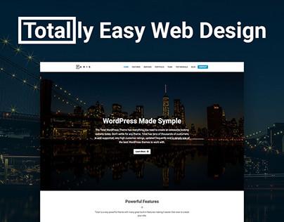 Paris Single Page Small Business Website