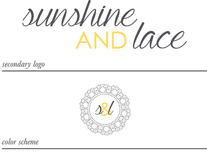 Sunshine & Lace Branding