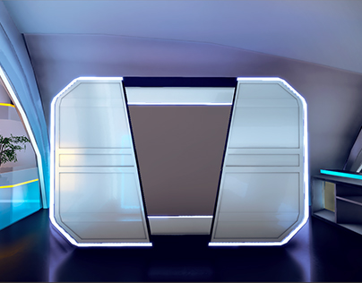 Future Bedroom(WIP) Scene of VR Interactive Prototype