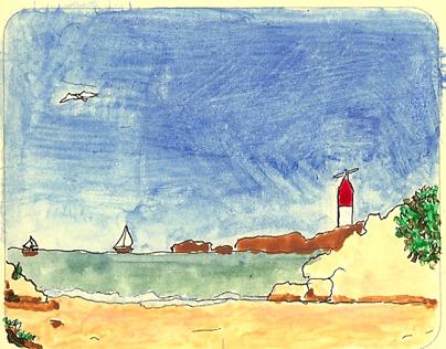 Water Colors, Drawings, Oil