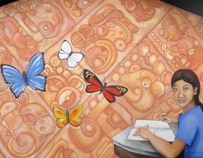 Mural in La Pintada, Copán Ruinas, Honduras