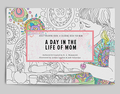 Adult Coloring Book: A Day in the Life of Mom