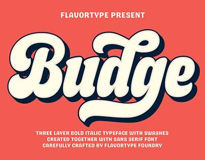 Budge - Italic Bold Layered