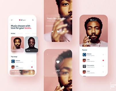 Music Beats UI UX App Design