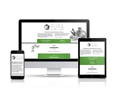PURA Restaurant - Website