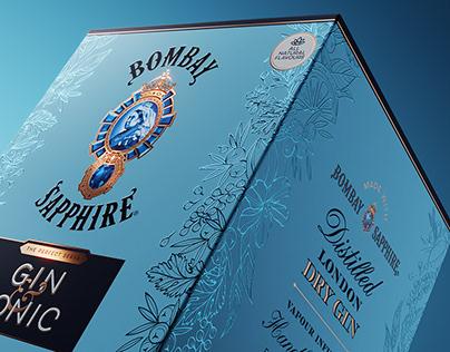 Bombay Sapphire Packaging Illustration