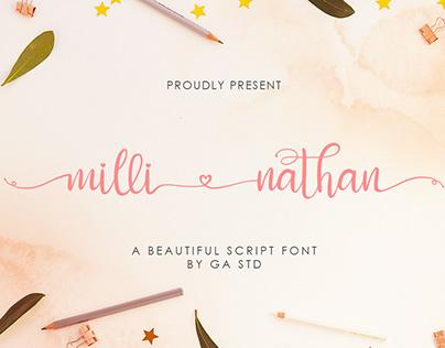 Milli Nathan - Beautiful Script Font