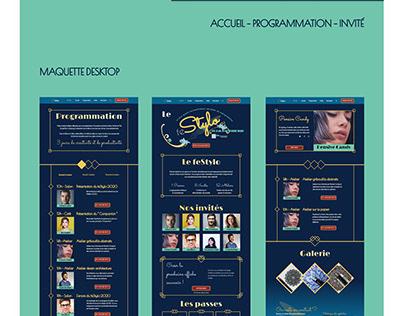 Le feStylo - Site web évènementiel fictif
