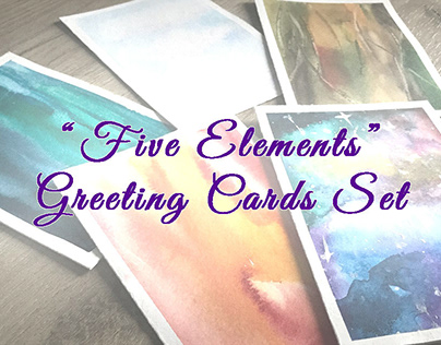 """""""Five Elements"""" Greeting Cards Set"""