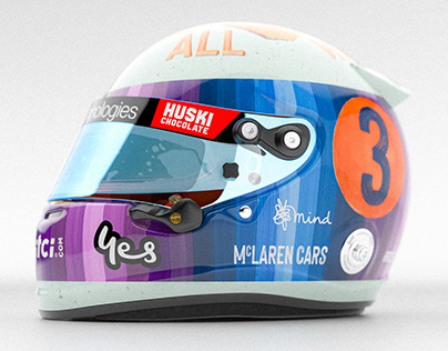 Daniel Ricciardo Helmet - Vintage Redesign