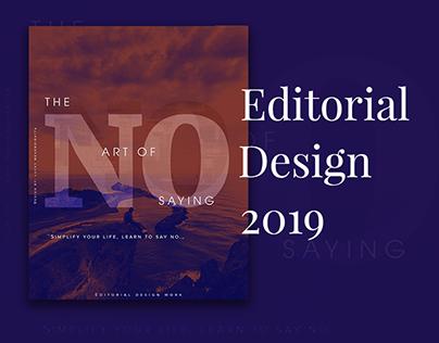 Editorial design work 2019