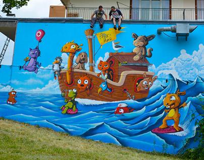 Fresque Graffiti APO & PITO 2015