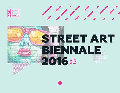 Street Art Biennale Landing