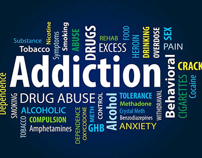 Substance abuse and addiction tag cloud