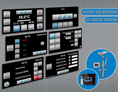Elektra Duş Bataryası LCD Arayüz Tasarımı