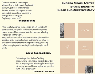 Andrea Siegel Brand Image, Identity and Creative Copy