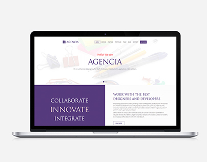 Agencia: Business Onepage Template for WordPress