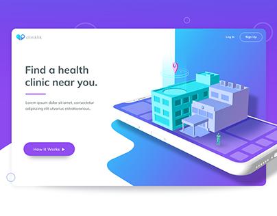Cliniklik - Find a healthcare clinic near you UX/UI