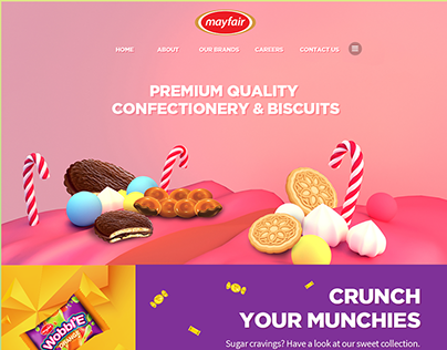 Mayfair - Home & Product Page Web Design Pitch