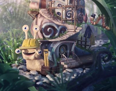 """Foureye"" : The snail builder | personal illustration"