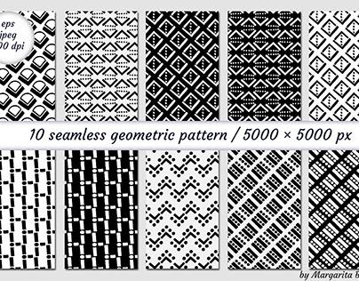 Seamless geometric patterns. Digital paper