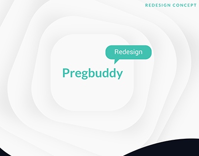 Screen Redesign- UI concept - Pregbuddy app