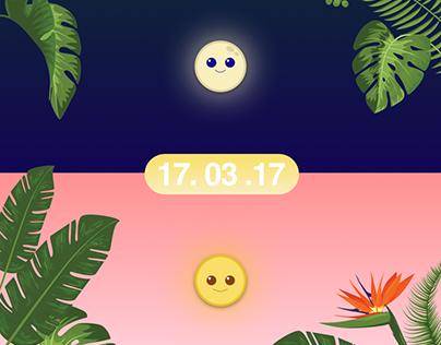UI Design for Weather app Concept