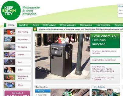 Keep Britain Tidy website relaunch