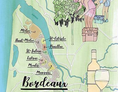Bordeaux Map Decanter Magazi